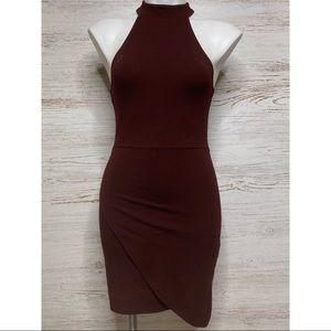 Forever 21 Dresses - Forever 21 Asymmetrical Bodycon Mini Choker Dress